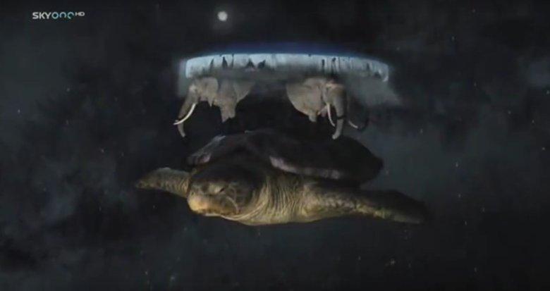 """Tak wygląda """"Ziemia"""" w książkach Pratchetta."""