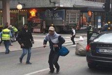 Rozpędzona ciężarówka wjechała w tłum w centrum Sztokholmu. To najprawdopodobniej był zamach terrorystyczny.
