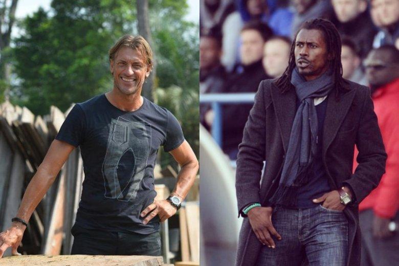 Aliou Cissé  i Hervé  Renard są świetnymi sportowcami, ale równie dobrze sprawdziliby się w świecie mody