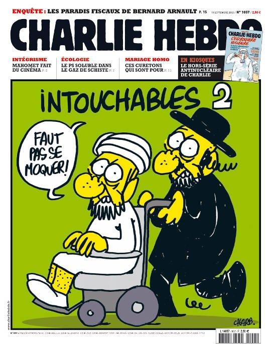 "Jedna z okładek ""Charlie Hebdo"""