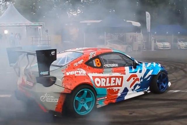 Toyota Jakuba Przygońskiego podczas imprezy Red Bull Kart Fight