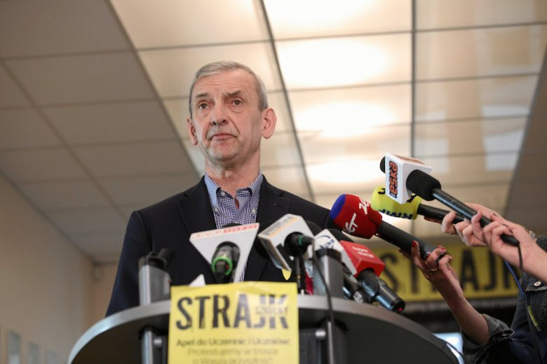 Szef ZNP Sławomir Broniarz po spotkaniu z przedstawicielami rządu informował, że nie osiągnięto porozumienia.