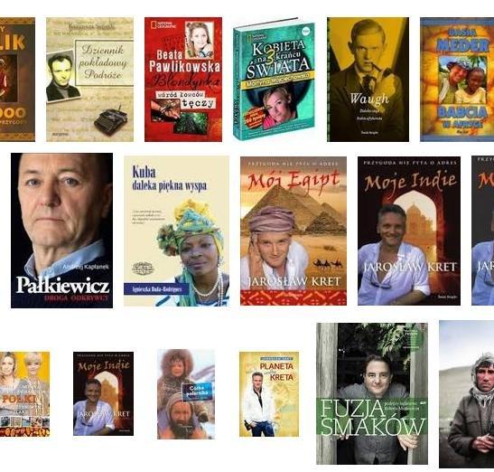 """Przypadkowe książki z działu """"Podróżnicy"""""""