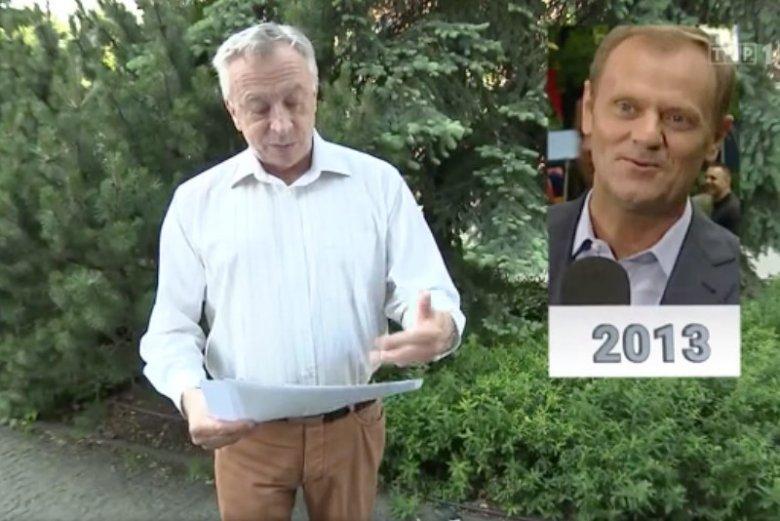Zbigniew Lazar dokonał porównania zdjęć Donalda Tuska.