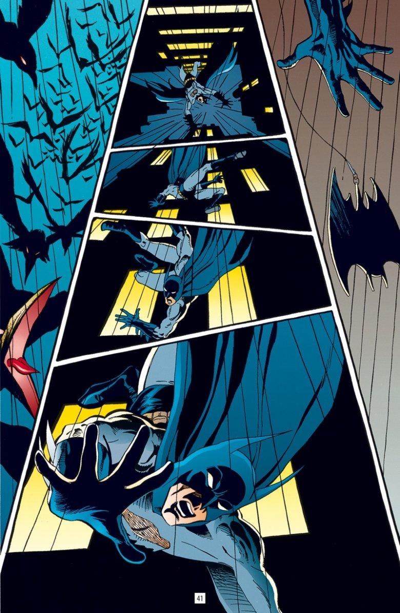 """Kadr z komiksu """"Batman: Nawiedzony Rycerz"""""""