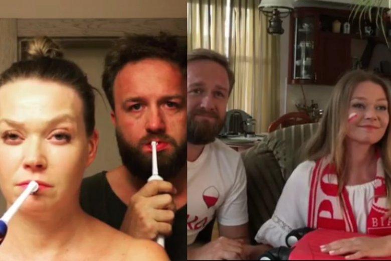 Tamara Arciuch i Bartek Kasprzykowski w zabawny sposób komentują Mundial 2018. Czy nagrywanie będą kontynuować również po porażce Polaków?