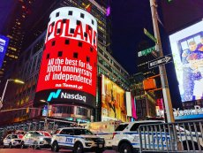 Spot o Polsce na Times Square był emitowany na 100-lecie odzyskania niepodległości.