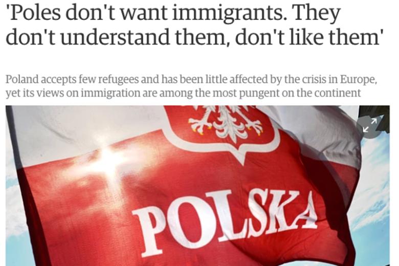 Artykuł o tym,że Polacy nie chcą imigrantów i uchodźców w brytyjskiej gazecie napisał Polak.