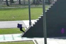 Kadr z nagrania udostępnionego przez policję.