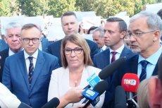 Konferencję PiS w Lublinie wspierała Beata Mazurek. W tej roli często wystepuje też premier Mateusz Morawiecki.