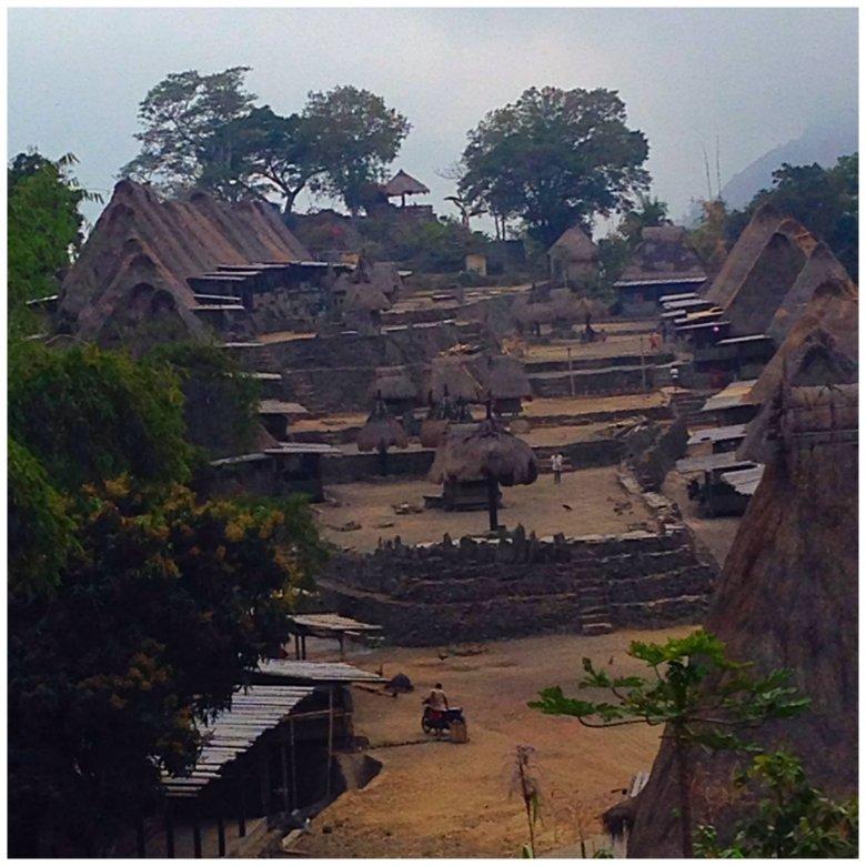 Piękna wioska Luba. Flores, Indonezja.