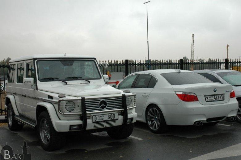 Parking pod AUD - G55AMG & M5 E60.
