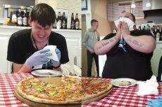 Pizzeria z Krakowa postawiła poprzeczkę bardzo wysoko. Śmiałkowie często nie wyrabiają po pierwszym kawałku