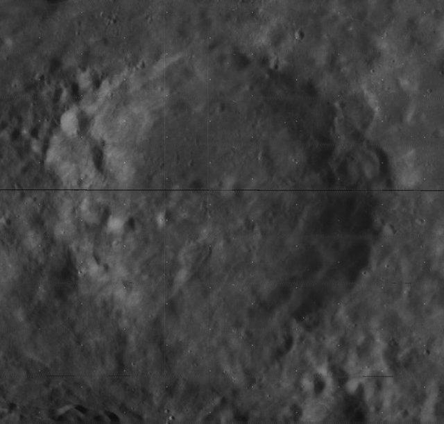 Krater księżycowy Snellius.