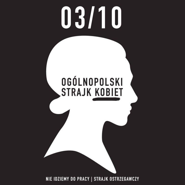 Plakat promujący Czarny Poniedziałek (3 października).