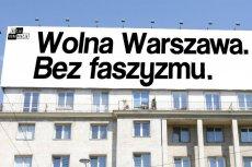 Dla portalu wPolityce.pl ten baner w rocznicę Powstania Warszawskiego to prowokacja.