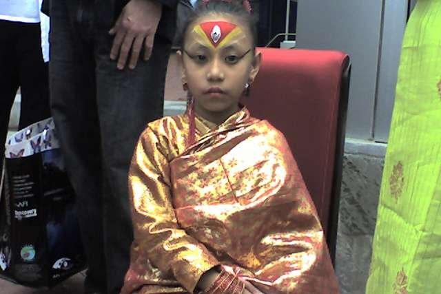 Sadźani Śakja, Kumari z Bhaktapuru. Jedna z żyjących bogini z Nepalu podczas swojej wizyty w Stanach Zjednoczonych