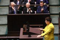 Beata Szydło w swoim przemówieniu przede wszystkim obwiniała opozycję o szkodzenie Polsce.