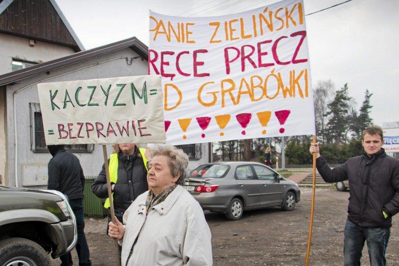 2015 rok, protest w Grabówce.