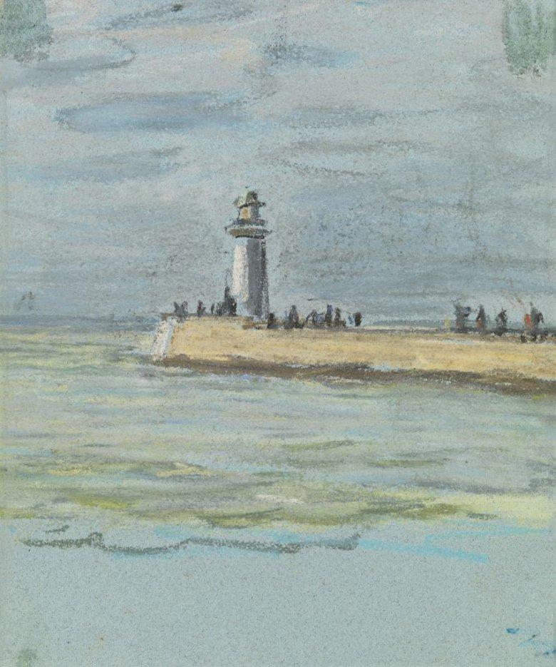 """""""Szczęśliwie odnaleziony rysunek znanego impresjonisty."""" Wg kolekcjonera, autorstwa Moneta, pochodzący z 1868 roku."""