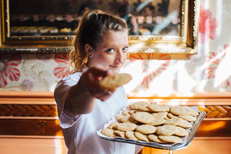 Lara Gessler i jej fenomenalne cookies z białą czekoladą.