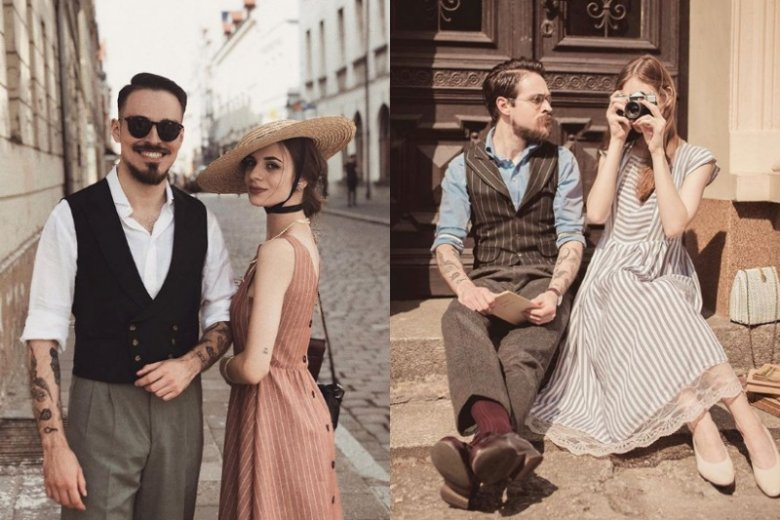Zdjęcia Karoliny i Bartosza przenoszą do dawnych lat