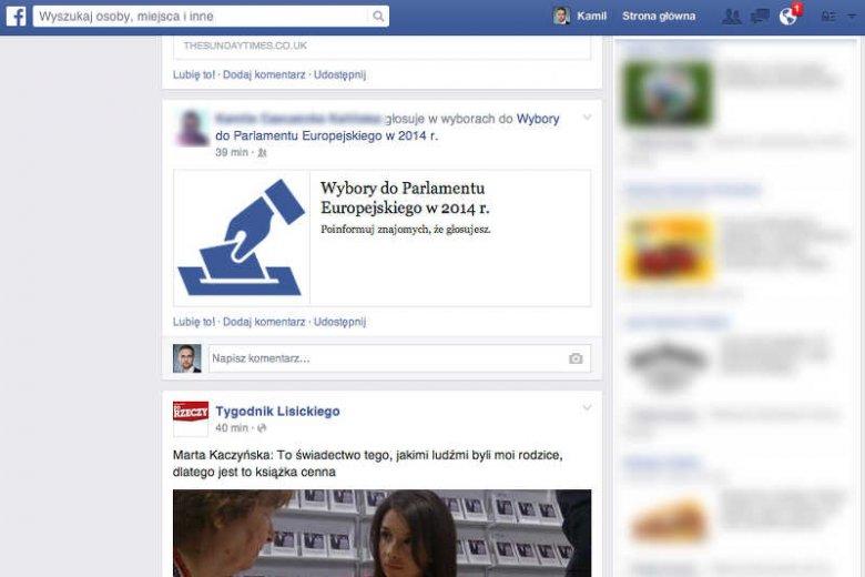 Facebook i Twitter zachęcają do głosowania w wyborach do PE.