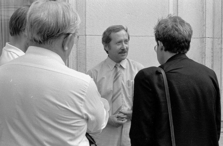 Janusz Onyszkiewicz w Sejmie, 1989 rok.