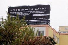 """To jeden z billboardów kampanii """"Sprawiedliwe Sady"""" finansowanej przez PFN."""