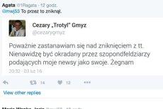 Cezary Gmyz zniknął z Twittera?