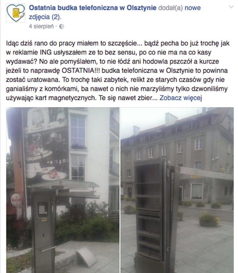 Andrzej Sadowski zauważył, że demontowana jest ostatnia budka w Olsztynie i postanowił ją uratować