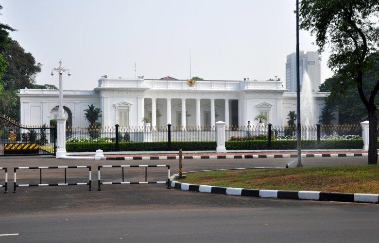 Indonezyjski biały dom w Dżakarcie