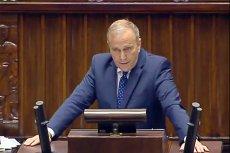 Lider PO Grzegorz Schetyna nie wytrzymało po tym, gdy PiS przedstawiło w Sejmie projekt ustawy, która doprowadzi do podwyżek cen paliw.