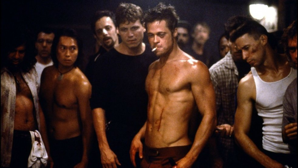 "Brad Pitt w filmie ""Fight Club"" ( 1999)"