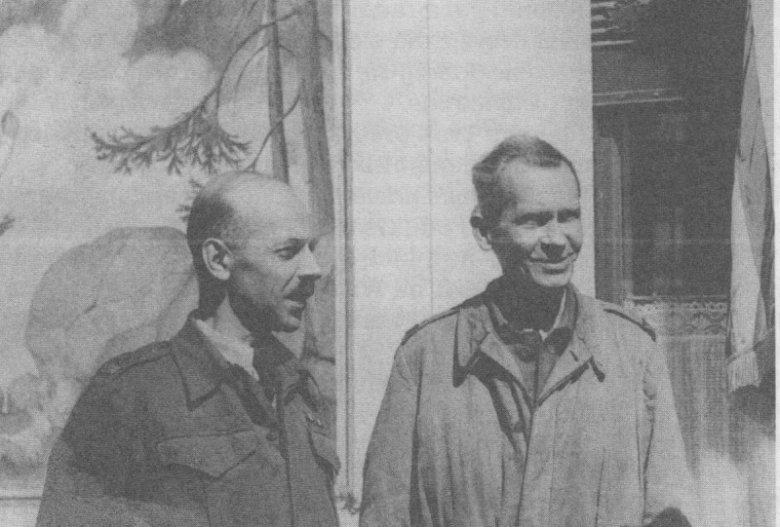 """Generał Tadeusz """"Bór"""" Komorowski, oraz gen. Tadeusz Pełczyński"""