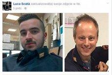 Policjanci Luca Scata (pierwszy z lewej) i Christian Movio stali się bohaterami Włochów. Zwłaszcza Scata, który ratując kolegę zastrzelił podejrzanego o zamach w Berlinie.