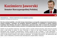 Senator Kazimierz Jaworski przekonuje, że pedofilia jest owocem rewolucji seksualnej
