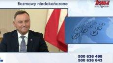 Prezydent Andrzej Duda w Telewizji Trwam o programie Mieszkanie Plus: Kłopotów jest bardzo dużo.