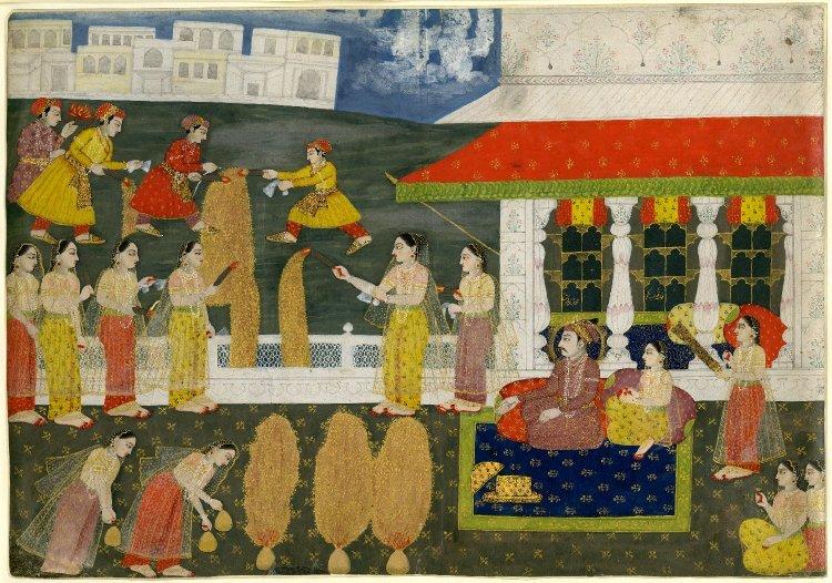 Pokaz fajerwerków, ok 1730