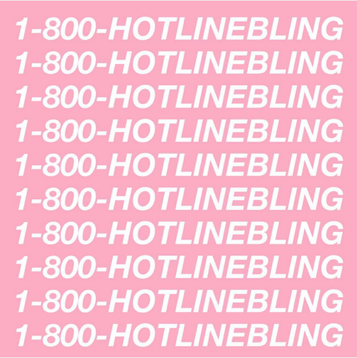 "Cover płyty Drake'a ""Hotline Bling"""