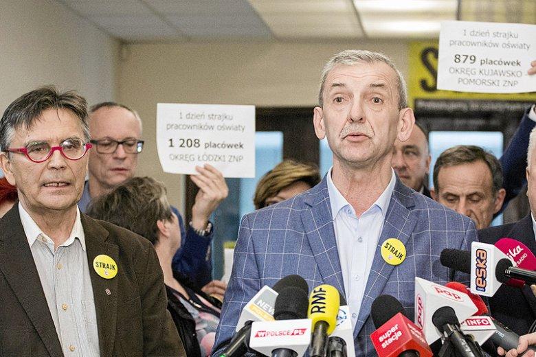 Prezes ZNP Sławomir Broniarz ogłosił dziś decyzję o zawieszeniu strajku nauczycieli.