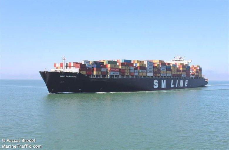 Na zdjęciu statek SM Line.