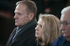Donald Tusk na pogrzebie Pawła Adamowicza.