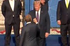 Trump klepnął mocno Tuska, ale ten nie pozostał mu dłużny.