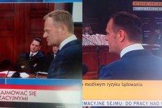 W TVP Info przesłuchanie Donalda Tuska nie jest transmitowane na żywo, lecz z opóźnieniem.