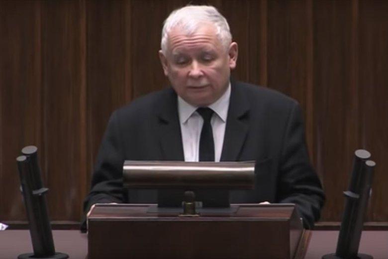 Jarosław Kaczyński w poruszającym przemówieniu wspominał Jolantę Szczypińską.