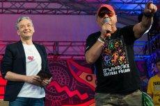 Robert Biedroń z Jerzym Owsiakiem podczas Przystanku Woodstock.