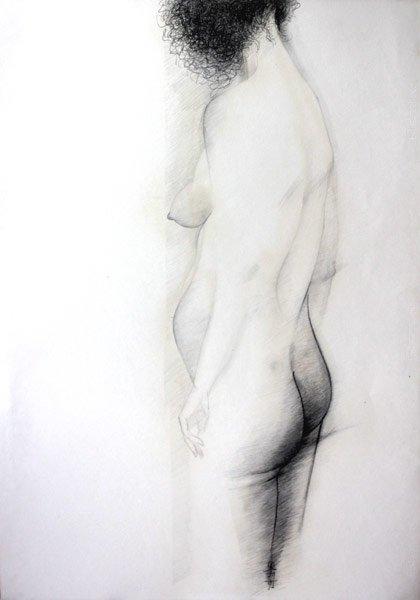 Leszek Rózga,  Akt, rysunek, Galeria Sztuki Katarzyny Napiórkowskiej