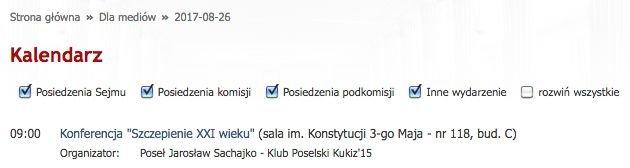 Antyszczepionkową konferencję w Sejmie organizuje poseł Kukiz'15