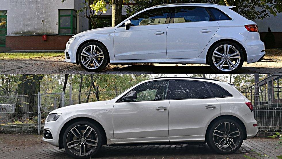 Audi A3S (na górze) i Audi SQ5 (na dole).